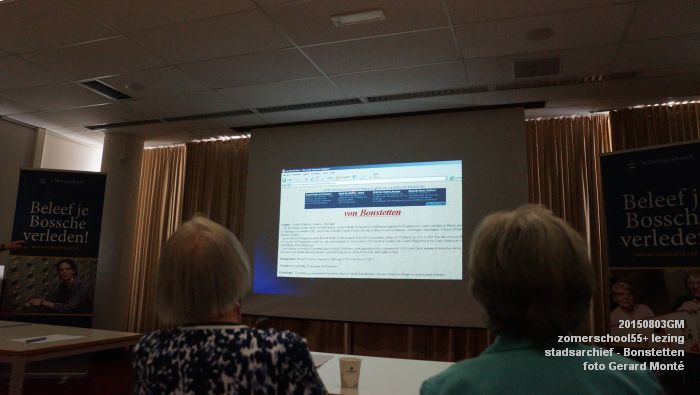 kDSC01323- Zomerschool55+ stadsarchief - lezing over Von Bonstetten - 3aug2015 - foto GerardMontE web