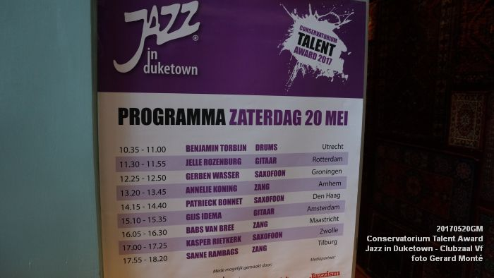 DSC08724- Jazz in Duketown - Conservatorium Talent Award - 20mei2017 - foto GerardMontE web