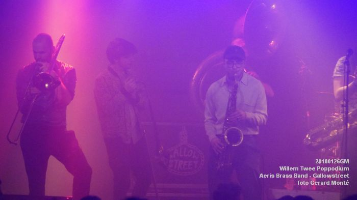 gDSC01338- Willem Twee Poppodium vrijdag -  Aeris Brass Band - Gallowstreet - 26jan2018 - foto GerardMontE web
