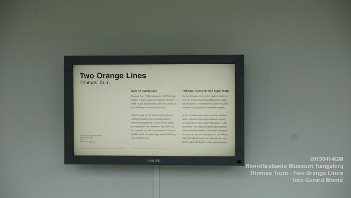 eDSC00226- Noordbrabants Museum - Thomas Trum - Two Orange Lines - 3 en 14apr2019 -  foto GerardMontE web