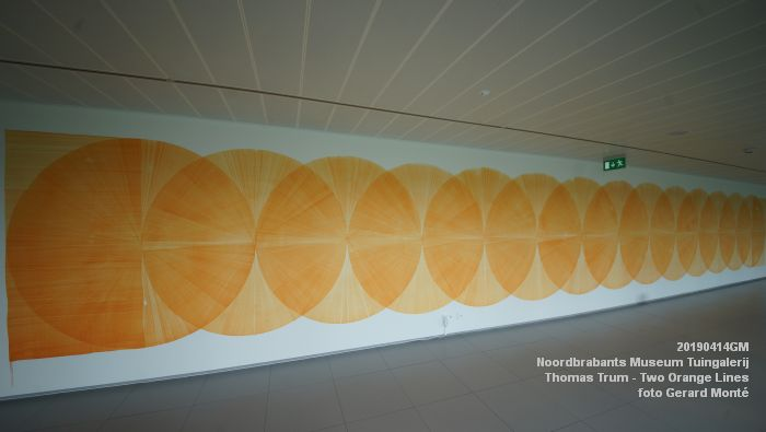 eDSC01087- Noordbrabants Museum - Thomas Trum - Two Orange Lines - 3 en 14apr2019 -  foto GerardMontE web