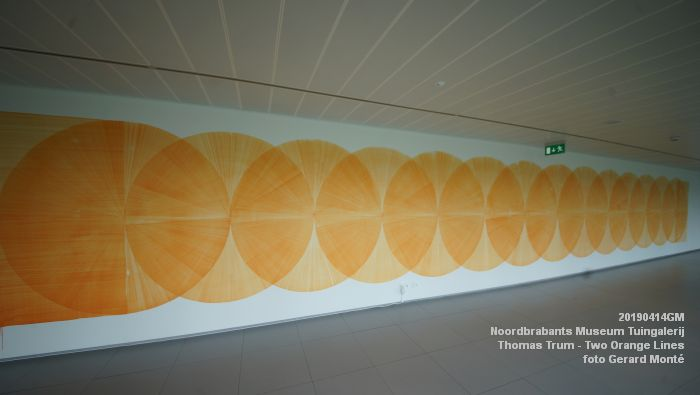 eDSC01088- Noordbrabants Museum - Thomas Trum - Two Orange Lines - 3 en 14apr2019 -  foto GerardMontE web