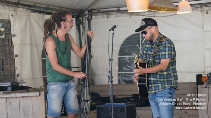 DSC00894- Club Zondag in de Azijnfabriek - Mrs P Rules - Johnny Chest Pain - Pleebek - 30juni2019 -  foto GerardMontE web