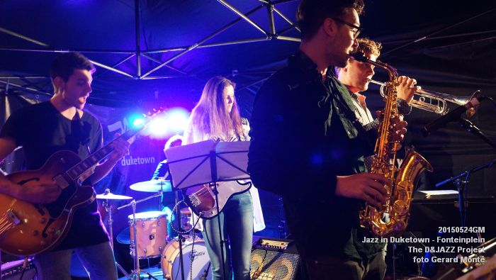 DSC08334- The D&JAZZ Project - Fonteinplein - 24mei2015 -  foto GerardMontE web