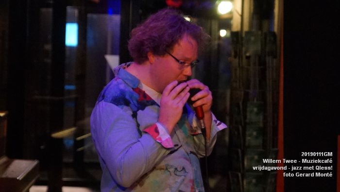 CDSC01414- Willem Twee - Muziekcafe - jazz met Qless - 11jan2019 -  foto GerardMontE web