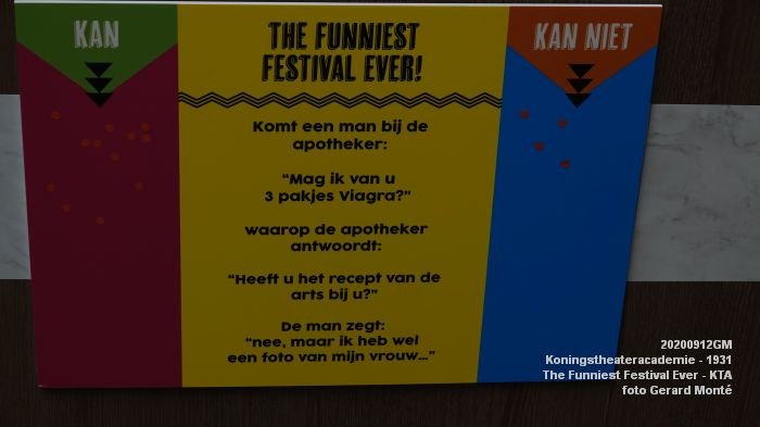 eDSC00345- Koningstheateracademie 1931 -The Funniest Festival Ever - 12sept2020 - foto GerardMontE web